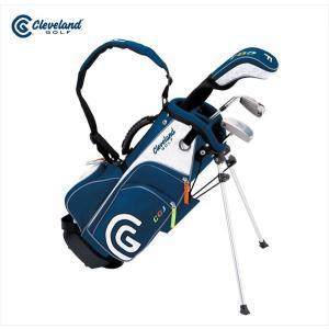 ダンロップ DUNLOP クリーブランド CLEVELAND ゴルフクラブ ジュニア GOLFジュニア SET 3本セット キャディバッグ付「3-6才」 CGJS3S|kpi24