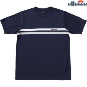 エレッセ Ellesse テニスウェア メンズ SS プラクティスクルーシャツ EM08305-NY 2018FW|kpi24