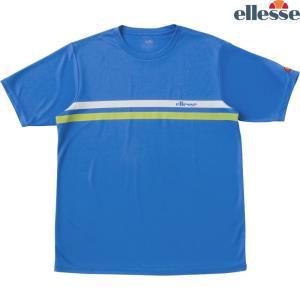 エレッセ Ellesse テニスウェア メンズ SS プラクティスクルーシャツ EM08305-PB 2018FW|kpi24
