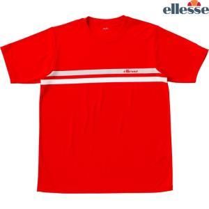 エレッセ Ellesse テニスウェア メンズ SS プラクティスクルーシャツ EM08305-PR 2018FW|kpi24