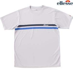 エレッセ Ellesse テニスウェア メンズ SS プラクティスクルーシャツ EM08305-ST 2018FW|kpi24