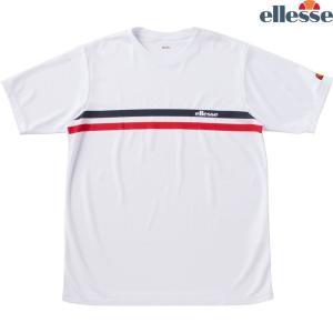 エレッセ Ellesse テニスウェア メンズ SS プラクティスクルーシャツ EM08305-W 2018FW|kpi24