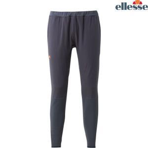 エレッセ Ellesse テニスウェア メンズ ハイブリッドストレッチロングパンツ EM68301-MG 2018FW|kpi24