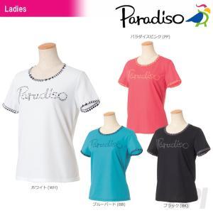 PARADISO パラディーゾ 「レディース半袖プラクティスシャツ ICL26A」テニスウェア「2017FW」|kpi24