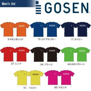 ゴーセン GOSEN テニスウェア  2018春企画 Tシャツ PT 半袖 ワンポイントロゴ J18P05 2018SS『即日出荷』|kpi24