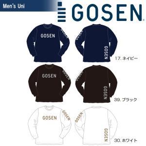 ゴーセン GOSEN テニスウェア  2018春企画 Tシャツ PT 長袖 ロングスリーブロゴ J18P06 2018SS『即日出荷』|kpi24