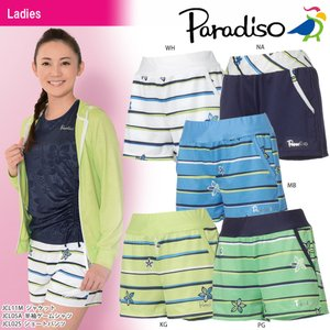 パラディーゾ PARADISO テニスウェア レディース ショートパンツ JCL02S 2018SS|kpi24