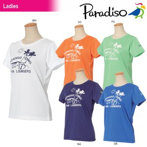 パラディーゾ PARADISO テニスウェア レディース 半袖プラクティスシャツ JCL20A 2018SS|kpi24