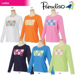 パラディーゾ PARADISO テニスウェア レディース 長袖プラクティスシャツ JCL25F 2018SS|kpi24