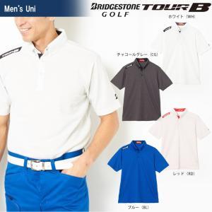 ブリヂストンゴルフ BRIDGESTONE ゴルフウェア メンズ TOUR B ツアーB 半袖ボタンダウンシャツ JGM09A 2018SS|kpi24