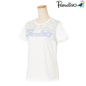 パラディーゾ PARADISO テニスウェア レディース 半袖シャツ KCL26A 2018FW[ネコポス可]|kpi24