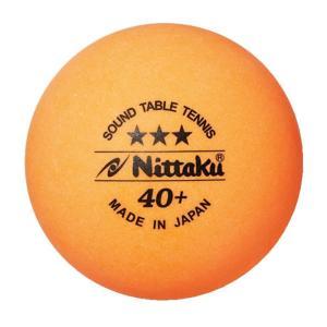 ニッタク Nittaku 卓球ボール  プラ サウンドボール 3コイリ 4セット NB1610-4|kpi24