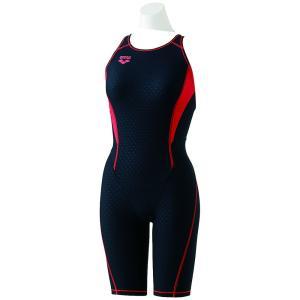 アリーナ ARENA 水泳水着 レディース タフハーフスパッツ 着やストラップ  SAR-8100W-BKRD|kpi24