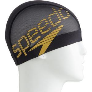 スピード Speedo 水泳キャップ・バイザー  BIG STACK メッシュキャップ SD98C73-GD|kpi24