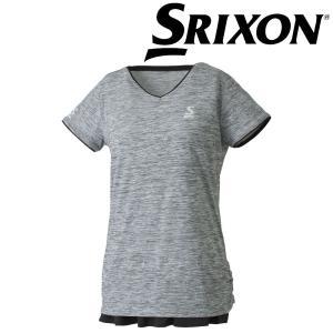 スリクソン SRIXON テニスウェア レディース ゲームシャツ SDP-1860W SDP-1860W 2018FW[ネコポス可]|kpi24