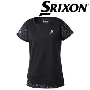 スリクソン SRIXON テニスウェア レディース ゲームシャツ SDP-1863W SDP-1863W 2018FW|kpi24