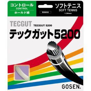 「■5張セット」GOSEN ゴーセン 「テックガット5200」ss602ソフトテニスストリング ガット|kpi24