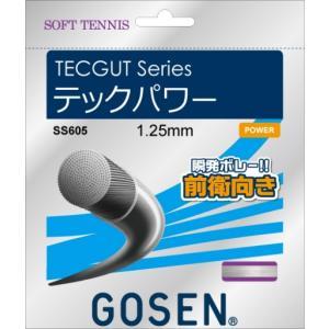 GOSEN ゴーセン 「テックパワー」SS605 ソフトテニスストリング ガット [ポスト投函便対応]|kpi24