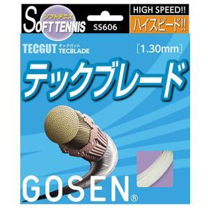 「■5張セット」GOSEN(ゴーセン)「テックガット テックブレード」SS606 ソフトテニスストリング(ガット) |kpi24