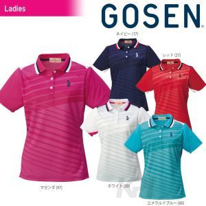 テニスウェア レディース ゴーセン GOSEN LaDIES' ゲームシャツ T1509 SS|kpi24
