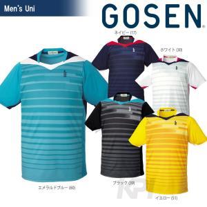 テニスウェア ユニセックス ゴーセン GOSEN ユニ ゲームシャツ T1512 SS|kpi24