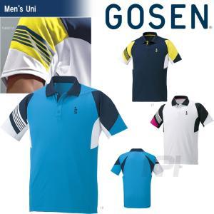 テニスウェア ユニセックス ゴーセン GOSEN ゲームシャツ T1600 2016SS テニコレ掲載 2017モデル|kpi24