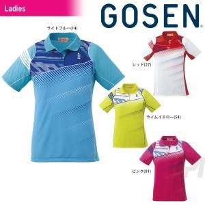 テニスウェア レディース ゴーセン GOSEN Women's ゲームシャツ T1611 2016FW 2017モデル|kpi24