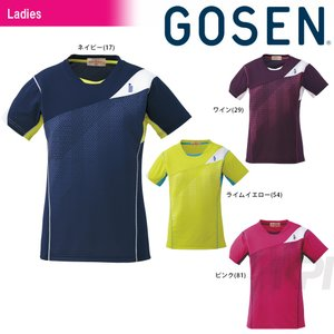 テニスウェア レディース ゴーセン GOSEN Women's ゲームシャツ T1613 2016FW 2017モデル|kpi24