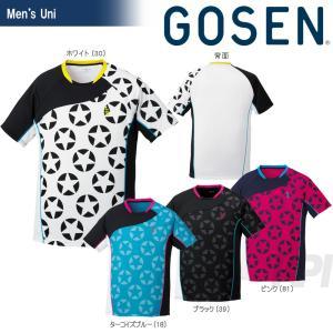 GOSEN ゴーセン 「UNI 星柄ゲームシャツ T1714」テニスウェア「2017SS」[ネコポス可]|kpi24