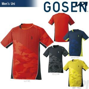 テニスウェア ユニセックス ゴーセン GOSEN ゲームシャツ T1724 2017FW 2017新製品|kpi24