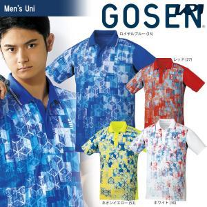 ゴーセン GOSEN テニスウェア ユニセックス ゲームシャツ T1800 2018SS|kpi24