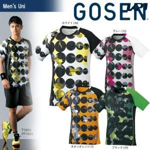 テニスウェア ユニセックス ゴーセン GOSEN ゲームシャツ T1804 2018SS|kpi24