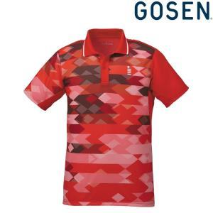 ゴーセン GOSEN テニスウェア ユニセックス ゲームシャツ T1818 2018FW|kpi24