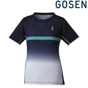 ゴーセン GOSEN テニスウェア レディース ゲームシャツ T1819 2018FW[ネコポス可]|kpi24