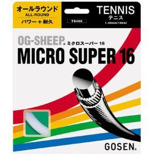 『即日出荷』 「■5張セット」GOSEN(ゴーセン)「オージーシープミクロスーパー16」ts400硬式テニスストリング(ガット)|kpi24
