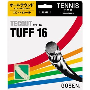 「■5張セット」GOSEN ゴーセン 「テックガットタフ16」ts620硬式テニスストリング ガット|kpi24