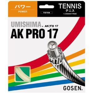 「■5張セット」GOSEN ゴーセン 「ウミシマAKプロ17」ts708硬式テニスストリング ガット|kpi24