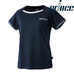 プリンス Prince テニスウェア レディース ゲームシャツ WL8095 2018FW|kpi24