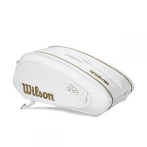 ウイルソンWilson テニスバッグ  FEDERER DNA 12 PACK  WHITE/GOLD ラケットバッグ12本入 ロジャー・フェデラー2019ウィンブルドン使用予定モデル  WR8004401001|kpi24|02