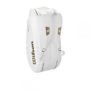 ウイルソンWilson テニスバッグ  FEDERER DNA 12 PACK  WHITE/GOLD ラケットバッグ12本入 ロジャー・フェデラー2019ウィンブルドン使用予定モデル  WR8004401001|kpi24|03