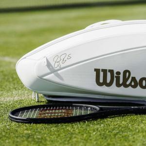 ウイルソンWilson テニスバッグ  FEDERER DNA 12 PACK  WHITE/GOLD ラケットバッグ12本入 ロジャー・フェデラー2019ウィンブルドン使用予定モデル  WR8004401001|kpi24|04