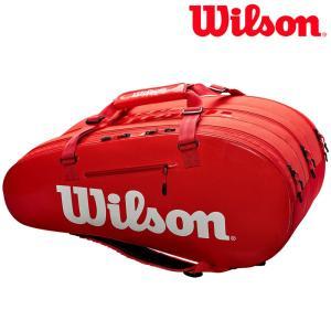 ウイルソン Wilson テニスバッグ  SUPER TOUR 3 COMP RED ラケットバッグ 15本入 WRZ840815|kpi24
