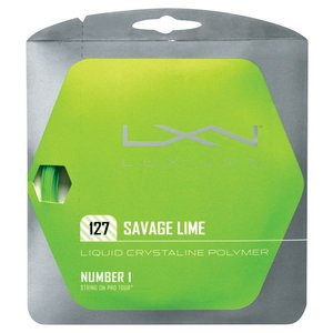 LUXILON ルキシロン 「SAVAGE 127  サベージ127 ライム WRZ994500」硬式テニスストリング ガット|kpi24