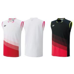 ヨネックス YONEX バドミントンウェア メンズ ゲームシャツ ノースリーブ 日本代表ヨネックス全英選手権着用モデル 10311Y 2019FW [ポスト投函便対応]|kpi