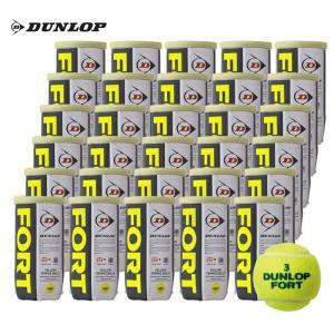 「5%OFFクーポン対象」DUNLOP(ダンロップ)FORT(フォート)[2個入]1箱(30缶/60球)硬式テニスボール