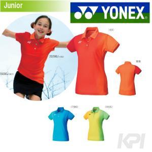 『即日出荷』「2017モデル」YONEX ヨネックス 「JUNIOR GIRL ポロシャツ スリムロングフィットタイプ  20298J」テニス&バドミントンウェア「2016SS」|kpi