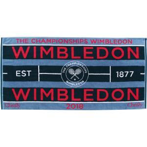 『即日出荷』ウィンブルドン WIMBLEDON テニスタオル  2018 チャンピオンシップタオル レディース ペトロール 41076955