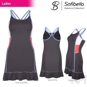 テニスウェア レディース ソフィベラ Sofibella Balance Collection バランスコレクション Cami Dress BA1447 SS|kpi
