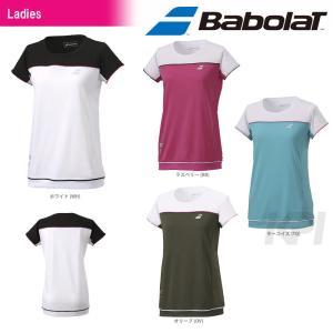 「2017新製品」Babolat バボラ 「Women's レディース ショートスリーブシャツ BAB-1747W」テニスウェア「2017SS」『即日出荷』|kpi
