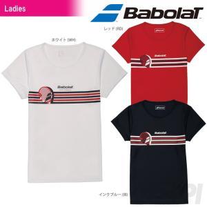 『即日出荷』Babolat バボラ 「Women's レディース ショートスリーブシャツ BAB-8734W」テニスウェア「2017SS」|kpi